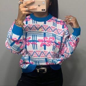 Vintage 90's Boho Tribal Traveler Sweater SZ XL
